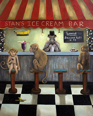 Monkey Business Art Print by Leah Saulnier The Painting Maniac