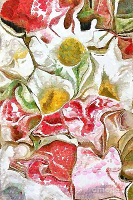 Painting - Monkey Caricatured Roses Pearleaqued In The Mix by Catherine Lott