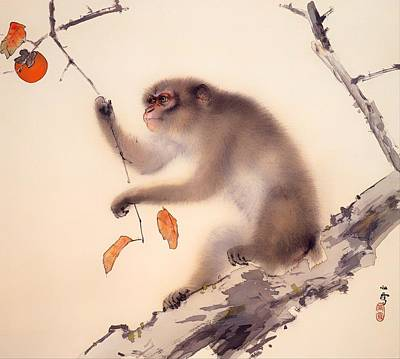 Fruit Tree Art Painting - Monkey by Mountain Dreams