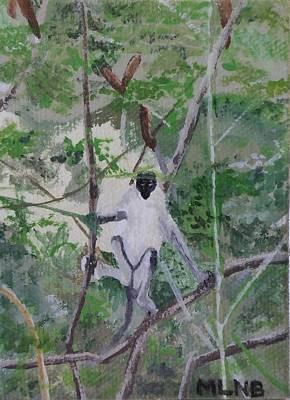 Painting - Monkey In Guana Bay by Margaret Brooks