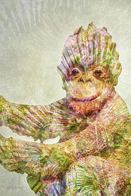 Digital Art - Monkey Man by Pamela Williams