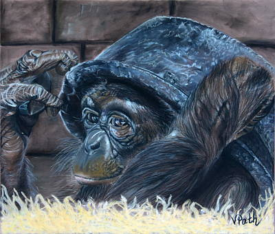 Pastel - Monkeying Around by Vicky Path