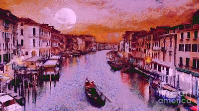 Royalty Free Images Painting - Monkey Painted Italy Again by Catherine Lott