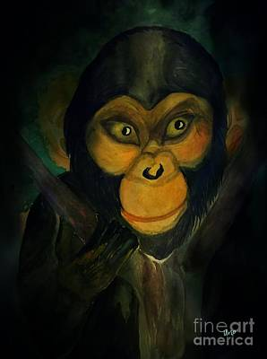 Painting - Monkey See by Maria Urso