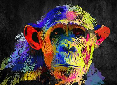 House Pet Digital Art - Monkey Shrek by Yury Malkov
