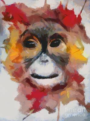 Monkey Splat Art Print