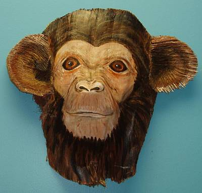 Chimpanzee Mixed Media - Monkey Time by Ellen Burns
