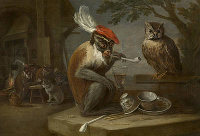 Photograph - Monkey Trick by David Teniers the Younger