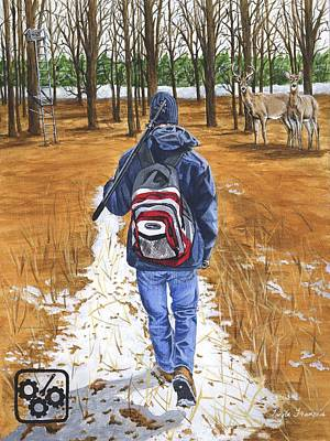 Rights Painting - Monkey Wrenching II - Just Another Winter's Day by Twyla Francois