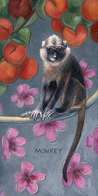 Year Of The Monkey Painting - Monkey Year by Montana Black