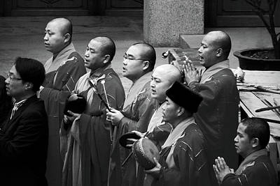 Photograph - Monks Chanting - Jing'an Temple Shanghai by Christine Till