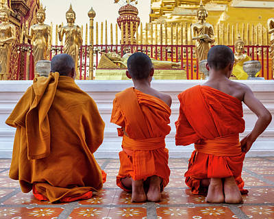 Photograph - Monks by Fabrizio Troiani