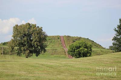 Monks Mound Photograph - Monk's Mound by Dawn Cowan