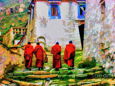 Photograph - Monk's Walk by Rick Bragan