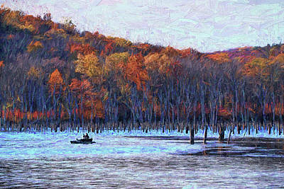 Photograph - Monksville Reservoir 6 - Photopainting by Allen Beatty