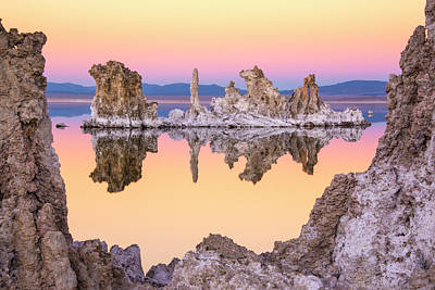 Mono Lake Through A Tufa Frame Art Print