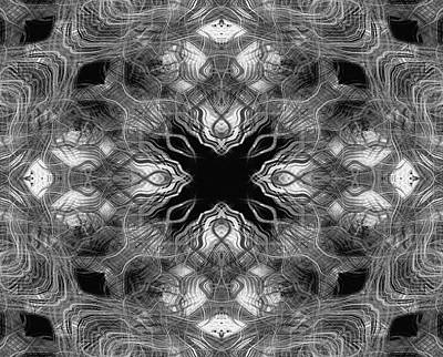 Digital Art - Mono Lines 6 by Steve Ball
