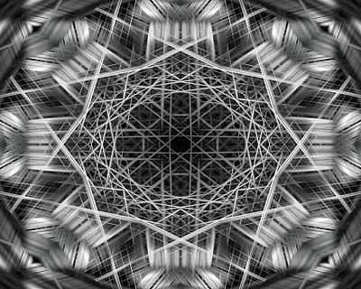 Digital Art - Mono Lines 7 by Steve Ball