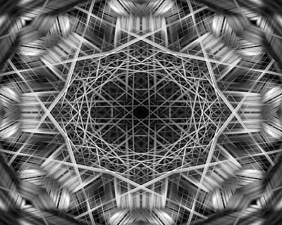 Digital Art - Mono Lines 7 by Steve Ball