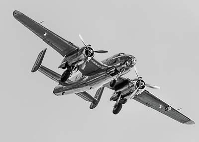 North American B-25j Mitchell Photograph - Mono Mitchell by Gareth Burge Photography