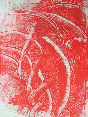 Mono Print 001 - Rotation Art Print