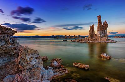 Monolake Photograph - Mono Sunset by Dave Koch
