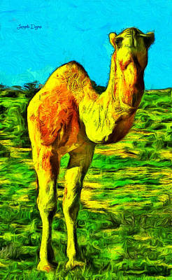 Camel Digital Art - Monocamel - Da by Leonardo Digenio