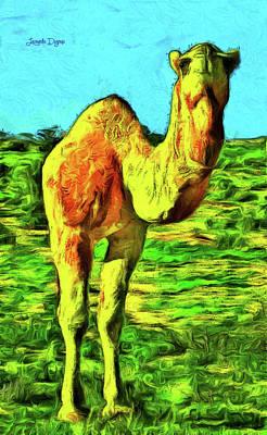 Whippet Painting - Monocamel by Leonardo Digenio