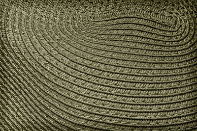 Photograph - Monochromatic Pattern In Straw by Phil Cardamone
