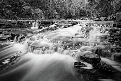 Photograph - Monochromatic River - Columbus Ohio by Gregory Ballos
