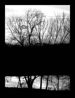 Photograph - Sunset And Stock Pond Monochromatic by Chris Berry