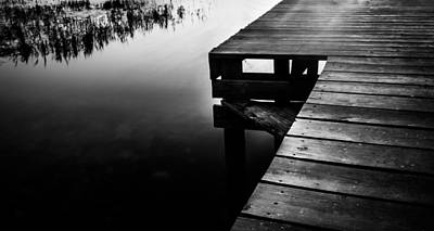 Photograph - Monochrome At The Dock by Shelby Young