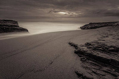 Davenport Beach Photograph - Monochrome Beach by Ian Aldridge