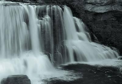 Monochrome Blackwater Falls West Virginia Art Print