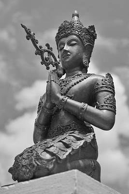 Photograph - Monochrome Bodhisattva by Lee Webb