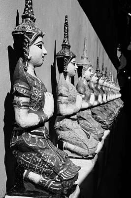 Photograph - Monochrome Bodhisattvas by Lee Webb