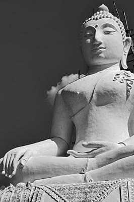 Photograph - Monochrome Buddha by Lee Webb