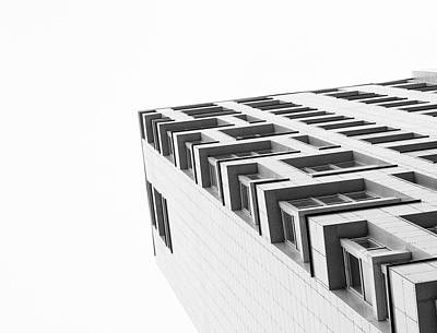 Photograph - Monochrome Building Abstract 4 by John Williams