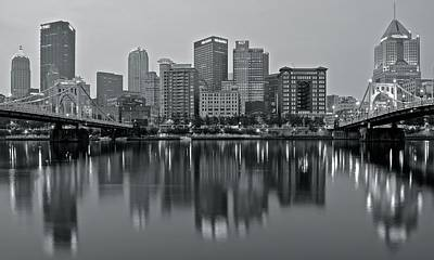 Photograph - Monochrome Cityscape 2016 by Frozen in Time Fine Art Photography