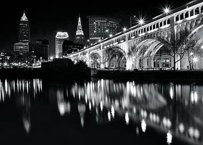 Photograph - Monochrome Cleveland by Frozen in Time Fine Art Photography
