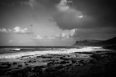 Photograph - Monochrome Fair Head by Alex Leonard