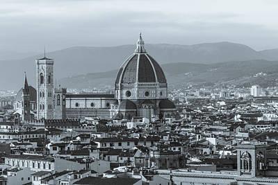 Photograph - Monochrome Florence by David Warrington