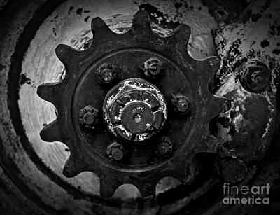 Photograph - Monochrome Gear by Chalet Roome-Rigdon