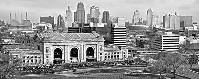 Photograph - Monochrome Kc Pano by Frozen in Time Fine Art Photography