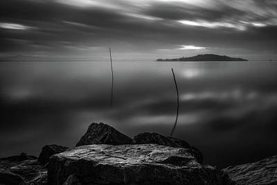 Photograph - Monochrome Lake by Matteo Viviani