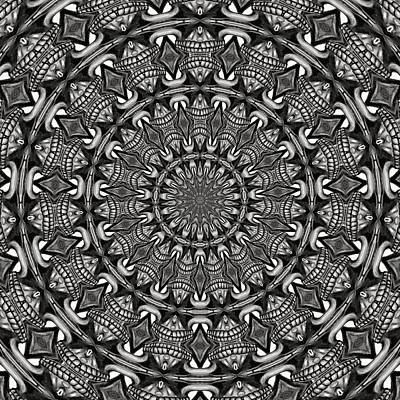 Digital Art - Monochrome Mandala by Tracey Harrington-Simpson