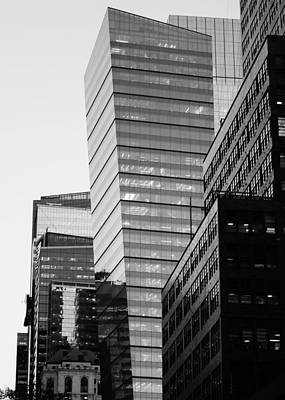 Photograph - Monochrome New York Architecture by Alan Roberts