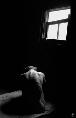 Photograph - Monochrome Nude Beneath A Window  by Wayne King