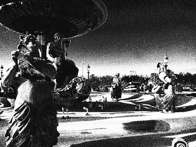 Photograph - Monochrome Place De La Concorde by Laura Greco