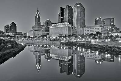 Photograph - Monochrome Scioto Reflection by Frozen in Time Fine Art Photography